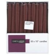 Chef's Larder 25cm Burgundy Candles x 50