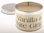 Pintail Vanilla & White Ginger Scented Candle Tin