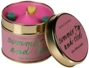 Bomb Cosmetics Scented Candle Tin, Summer Fig and Oilve