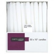 Chef's Larder 25cm White Candles x 50