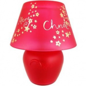 Christmas Jar Candle Lamp - Red Merry Christmas
