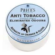 Odour Eliminating Scented Candle In a Tin Anti Tobacco 3.5 x 6.5cm - Homewares