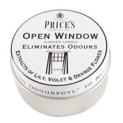 Odour Eliminating Scented Candle In a Tin Open Window 3.5 x 6.5cm - Homewares