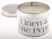 Pintail Candles Linen & White Pepper Candle Tin
