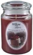 POMEGRANATE & PLUM SCENTED CANDLE (WILLOW LANE) by candle-lite