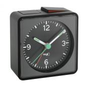TFA 60.1013.01 Push Alarm Clock, Black
