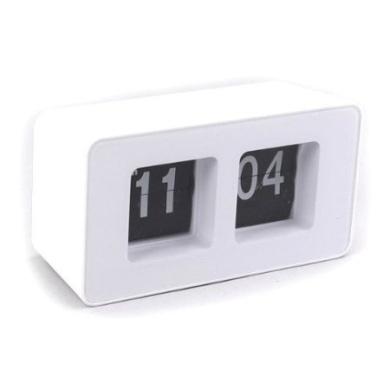 Desktop Retro Flip Clock - White ABS Material Quality