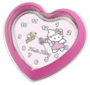 Hello Kitty Heart Shaped Bedside Alarm Clock