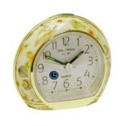 Wm.Widdop Alarm Clock - Yellow Flower Design L/S/C