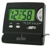 Acctim, Mini Flip Lcd Black Alarm Clock