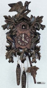 German Cuckoo Clock 1-day-movement Carved-Style 30cm - Authentic black forest cuckoo clock by Anton Schneider