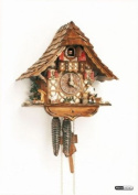 German Cuckoo Clock 1-day-movement Chalet-Style 28cm - Authentic black forest cuckoo clock by Anton Schneider