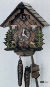 German Cuckoo Clock 1-day-movement Chalet-Style 23cm - Authentic black forest cuckoo clock by Anton Schneider