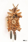 German Cuckoo Clock 8-day-movement Carved-Style 38cm - Authentic black forest cuckoo clock by Anton Schneider