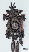 German Cuckoo Clock 8-day-movement Carved-Style 41cm - Authentic black forest cuckoo clock by Anton Schneider