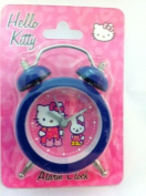 Hello Kitty Blue Frame Mini Alarm Clock:Hello Kitty & Bunny Clock 8