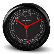 Oliver Hemming Desire Acrylic Black Side Alarm Clock
