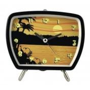 Tropical Talking Clock Sunset Black