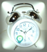 Twin Chime LED Analogue Bedside Alarm Clock