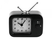Wanted Retro TV Alarm Clock, Metal Black