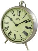Smiths Smiths Large Chrome Fob Style Mantel Clock