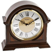 Deluxe Wooden Chiming Mantel Clock - Broken Arch Design - Westminster Chimes