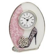 Sophia Accessorise Collection Glass Oval Mantel Clock