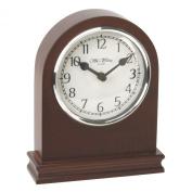 Wm. Widdop Arched Birch Wood Mantel Clock with Arabic Dial