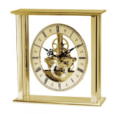 Acctim 36508 Malvern Skeleton Movement Table Clock, Gold