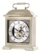 London Clock Co Chrome Finish Skeleton Carriage Clock