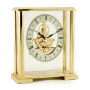 16 cm Gold Finish Skeleton Carriage Clock