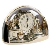 Half Moon Arched Gilt Design RHYTHM Twin Pendulum Mantel Clock