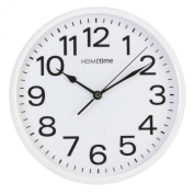 . White Bold Classic Quartz Wall Clock Non Ticking Silent Sweeping Seconds