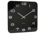 Karlsson Vintage Glass Wall Clock, Black