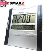 Kadio Digital Jumbo Wall Mount & Table Temperature Display Clock KD-3810
