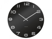 Karlsson Vintage Round Glass Wall Clock, Black