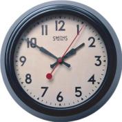 Roger Lascelles, Brown Metal 'Smiths' Design' Wall Clock