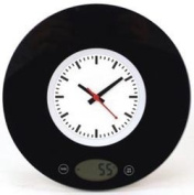 Kitchen Measuring scale with built-in Analogue Clock