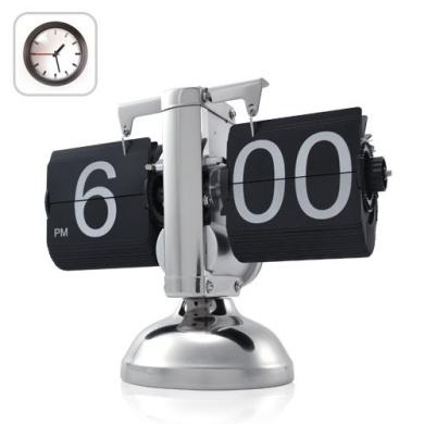 Retro Flip Down Clock - Internal Gear Operated