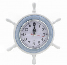 Nautical Theme Ship`s Wheel 23 cm Diameter Wall Clock