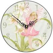 Pink Fairy Children's Wall Clock