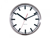 Karlsson Wall Clock Station Steel Polished