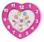 Hello Kitty Pink Heart Wall And Shelf Clock