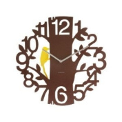 Karlsson Wall Clock Woodpecker Wall Clock - Brown