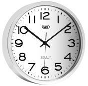 Trevi 3320 30cm Steel Wall Clock with Sweep Silent Movement
