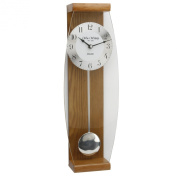 Deluxe Oak Pendulum Wall Clock - Glass Front