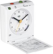 Braun Quartz Classic BNC005WHWH Travel Alarm White