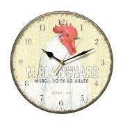 Blanchard White Hen Wall Clock