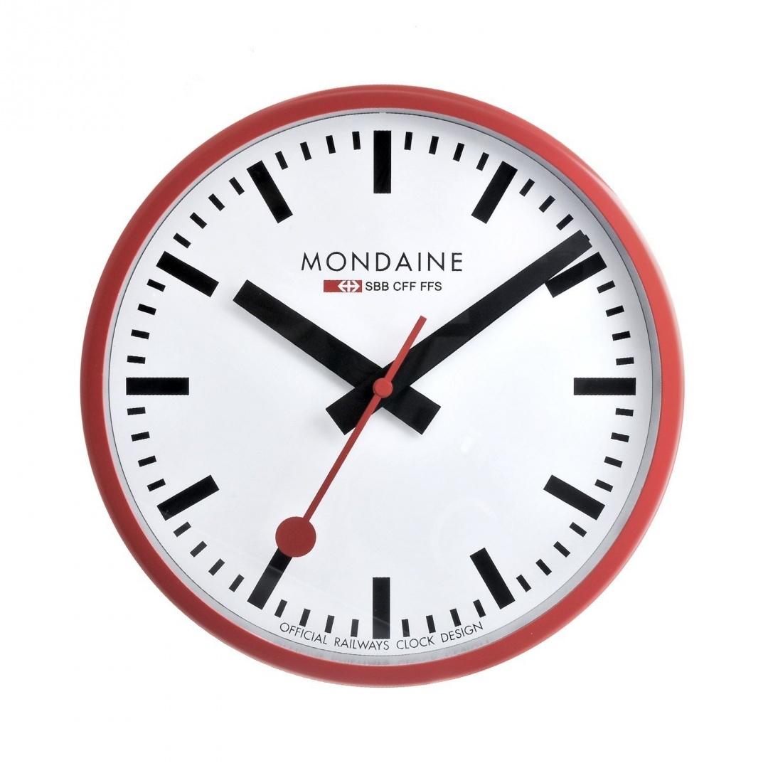 Mondaine Wall Clock 25cm A990CLOCK11SBC Kitchen Home by Mondaine