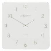 Square Glass Wall Clock Colour